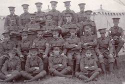 Picture of un-known members of the Isle of Wight Rifles