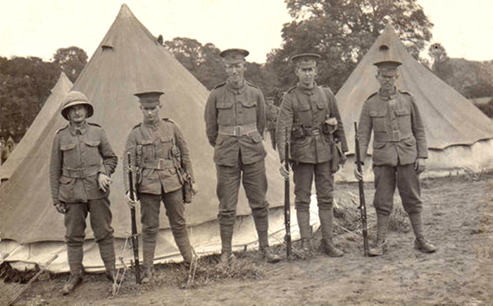 Picture of Isle of Wight Rifles campimg out