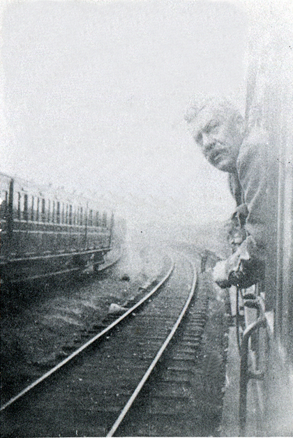 Picture of Col. J. E. Rhodes en route to Liverpool, 1915