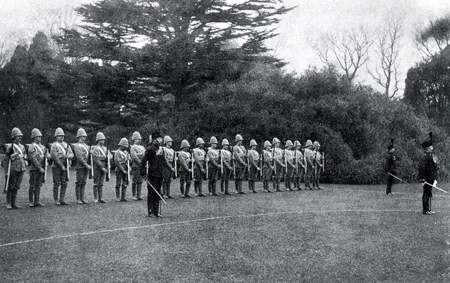 Picture of First Active Service Section - Isle of Wight Rifles Boer War - Inspection at Osborne